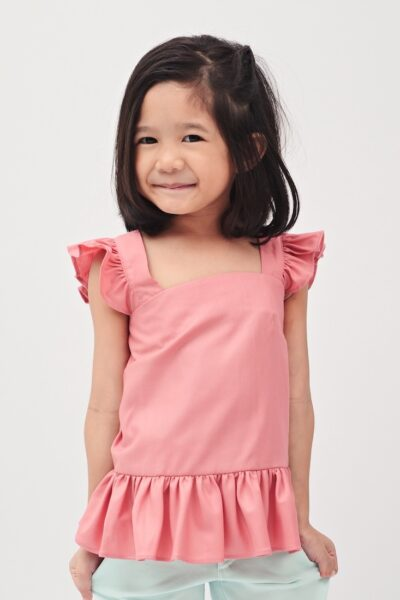 The Pink Peony | Buy Quality Blouses for Girls Online Malaysia | RoundAges