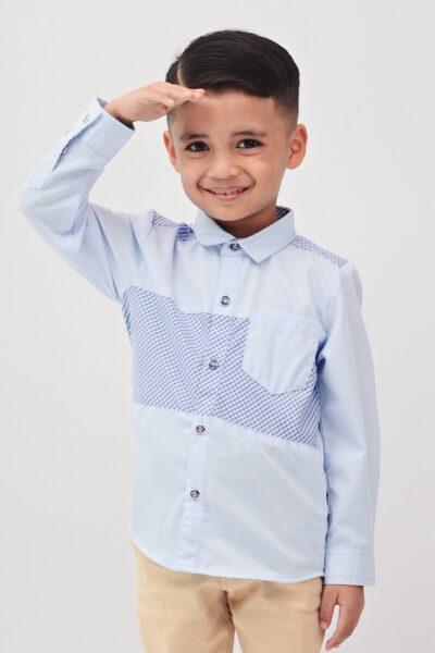 Buy Boys Long Sleeve Shirt Online Malaysia | Roundages